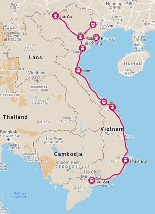 Treinen in Vietnam