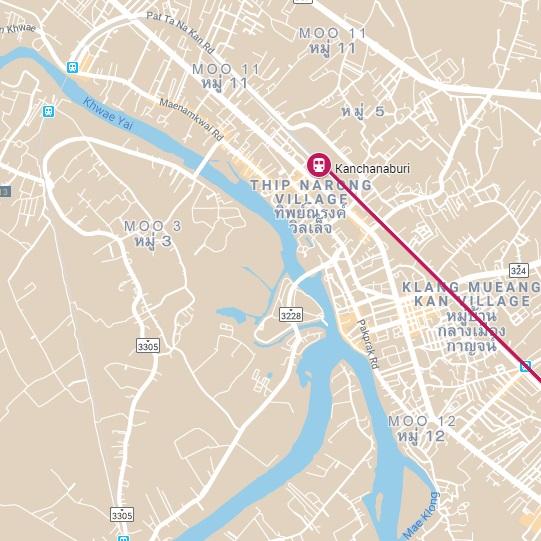 Treinstation Bangkok Thonburi