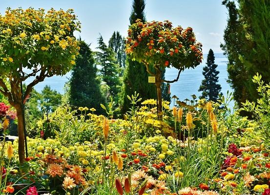 Bloemeneiland Mainau in de Bodensee