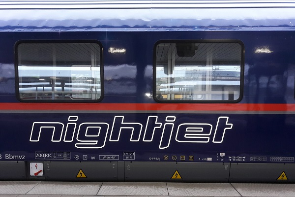 Nightjet nachttrein naar Oostenrijk