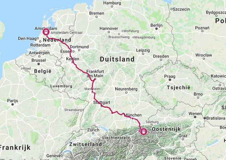 Trein naar Kitzbühel