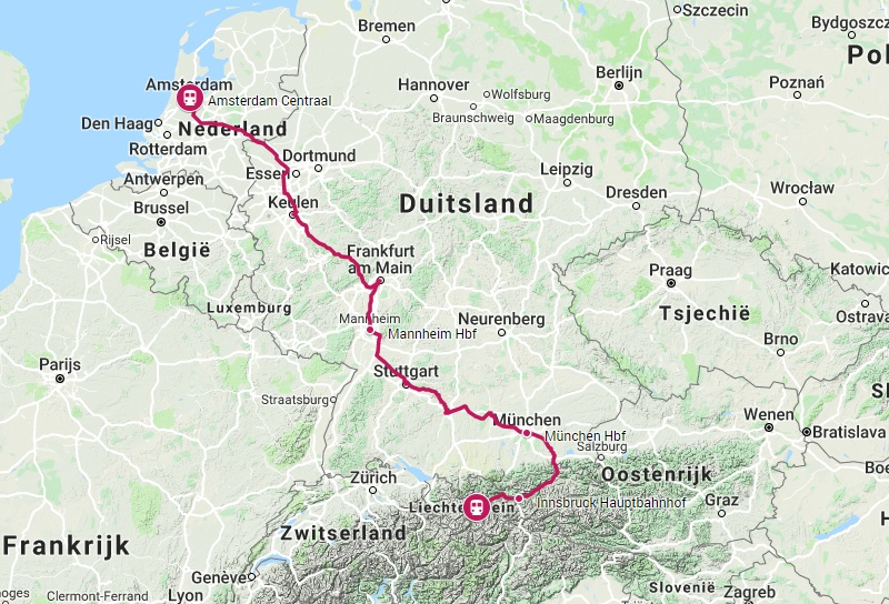 Trein naar Landeck-Zams