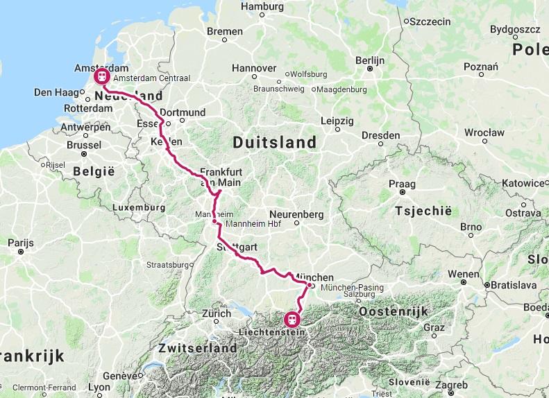 Verbinding trein naar Ehrwald