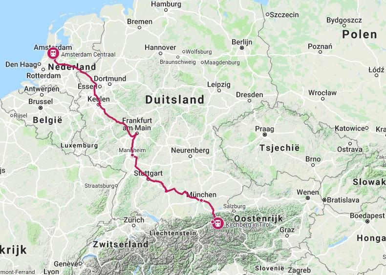 Verbinding trein naar Kirchberg in Tirol
