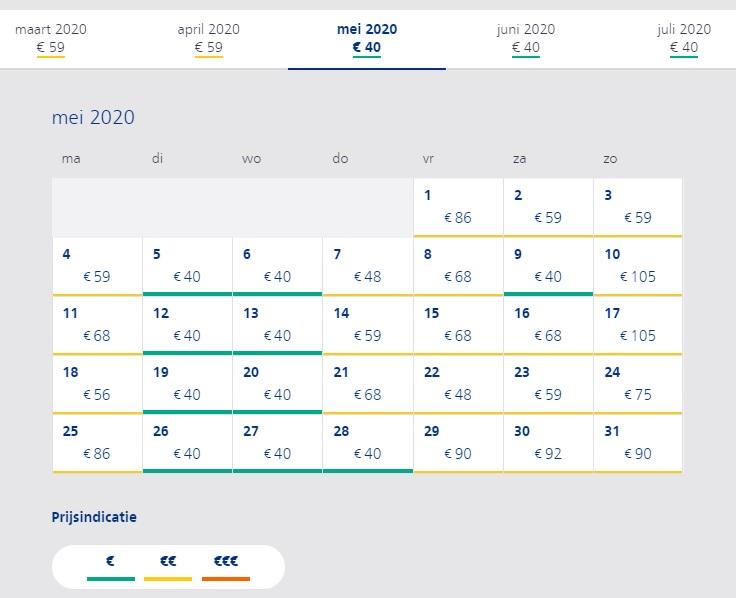 Prijzen van de rechtstreekse trein naar Londen